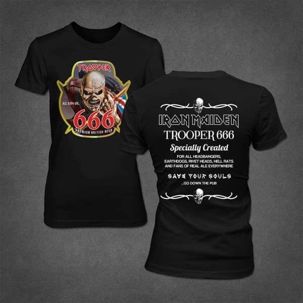 0ed967118 Trooper 666 Ladies Tee - Iron Maiden