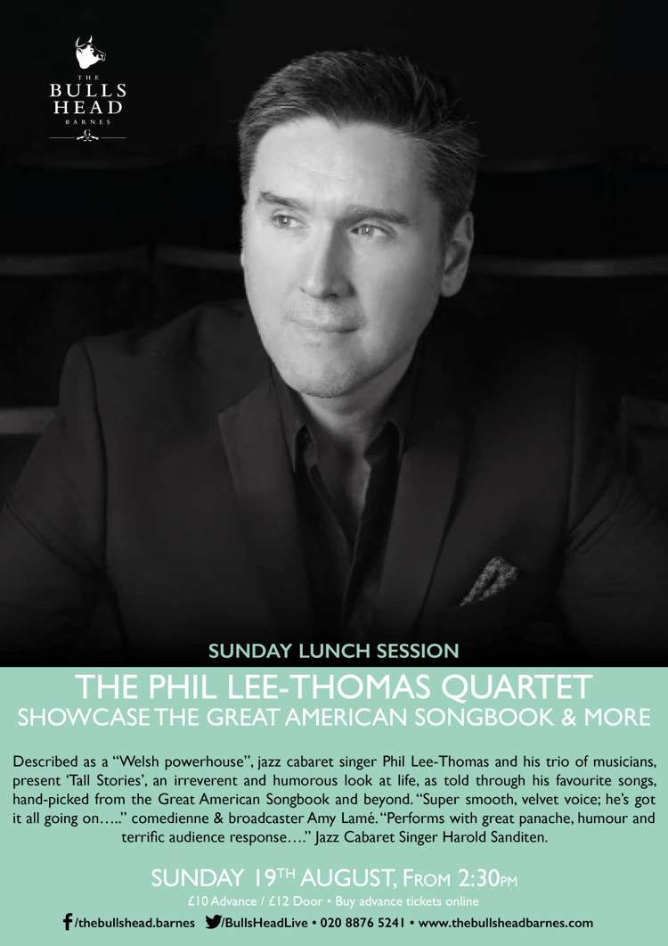 The Phil Lee-Thomas Quartet showcase the Great American Songbook   more on  the Lunchtime Session 5ed71fe81831f